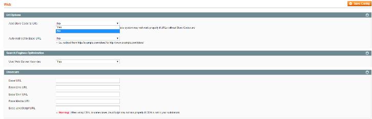 Magento store code URL changer