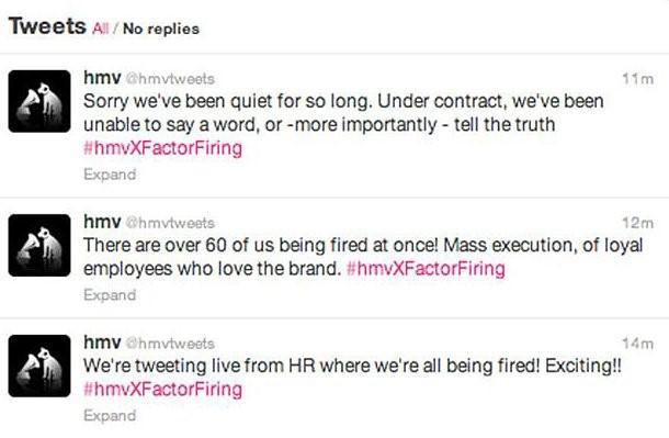 HMV Tweets