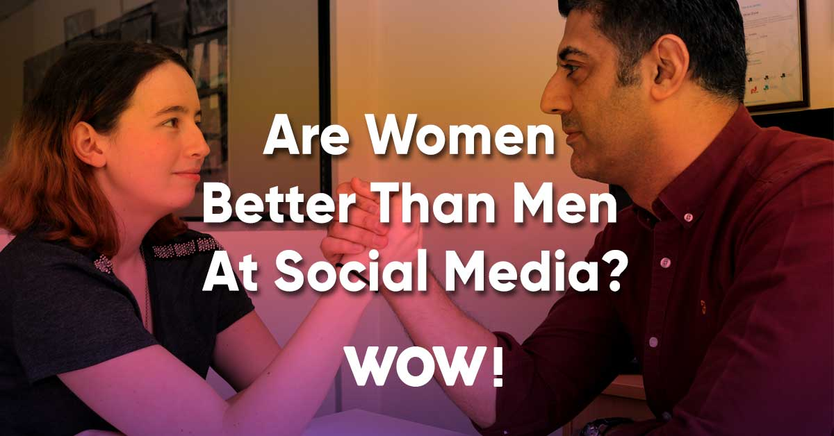 Are women better than men at social media?