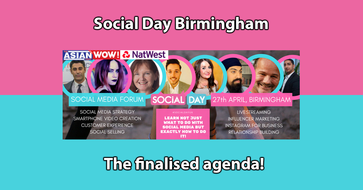 Social Day Birmingham The Finalised Agenda