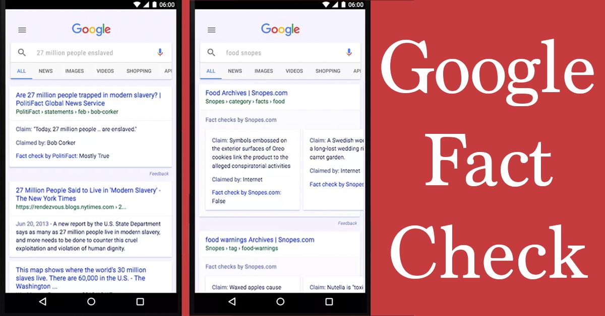 Google Fact Check Tackles Fake News