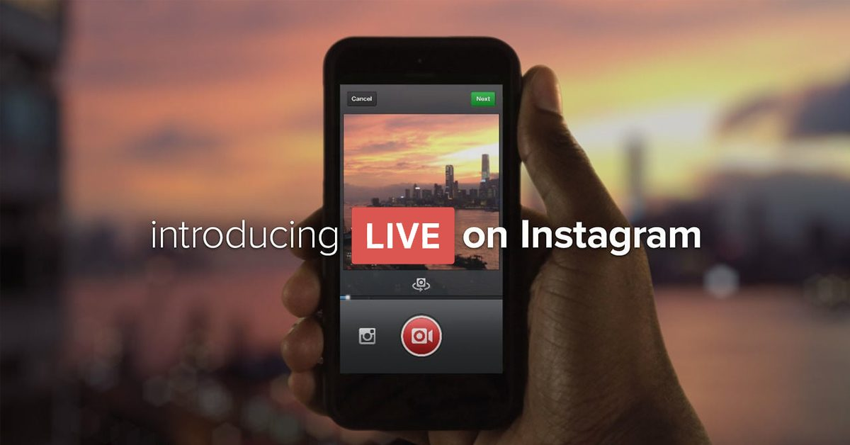 Instagram Live Video – new feature rolling rolling out SOON!